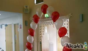 Engagement Balloon Pearl Arch